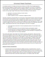 Universal Waste Factsheet - Air Cycle Corp.